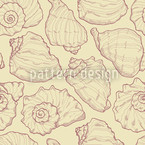 Shellfish Yellow Seamless Vector Pattern Design