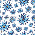 Wet Flowers Vector Pattern