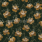 Dynamic Flowers Seamless Vector Pattern Design