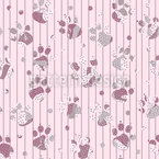 Spotted Paw Prints Repeat Pattern