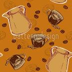 Kaffeeparadies Nahtloses Vektormuster