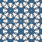Arabic Mosaic Geometry Vector Pattern