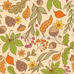 Herbstliches Blumenparadies Vektor Design