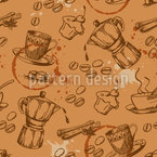 Cake And Coffee Seamless Vector Pattern Design