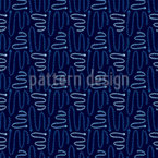 Indigo Arrows Pattern Design
