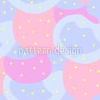 Dots On Abstract Shapes Pattern Design