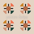 Minimalistic Geometry Seamless Vector Pattern Design