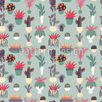 House Plant Dream Vector Pattern