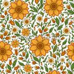 Floraler Sommertraum Nahtloses Vektormuster