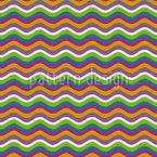 Ondas Retro Coloridas Design de padrão vetorial sem costura