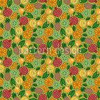 Exotic Fruit Paradise Pattern Design