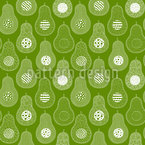 Acocado Seamless Vector Pattern