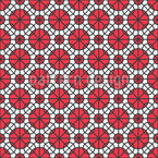 Circles On Check Repeating Pattern