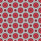 Kreise Auf Karo Rapportiertes Design