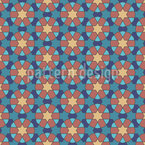 Arabic Circle Mosaic Vector Ornament