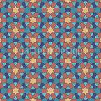 Arabisches Kreismosaik Nahtloses Vektormuster