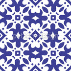 Squares And Flowers Design Pattern
