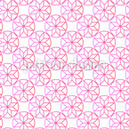 Circle Flowers Repeating Pattern