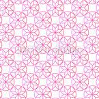 Circle Flowers Seamless Vector Pattern Design