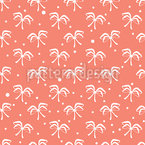 Coral Bows Seamless Vector Pattern Design