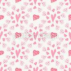 Vibration Of Hearts Pattern Design