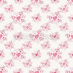 恋の輝き シームレスなベクトルパターン設計