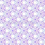 Circle Stars Seamless Vector Pattern Design