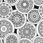 Treffen Der Mandalas Nahtloses Vektormuster