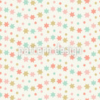 Wavy Stars And Spots Vector Ornament