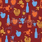 Apple Cider Seamless Vector Pattern Design