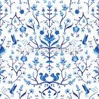 Frostiger Fantasie Garten Vektor Muster