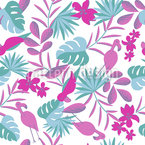 Foliage And Birds Seamless Pattern