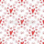 愛のサイン シームレスなベクトルパターン設計