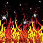 In Flammen Nahtloses Vektormuster