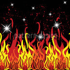 In Flammen Nahtloses Vektor Muster