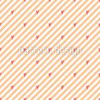Striped Valentine Vector Pattern