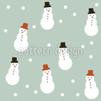 Snowmen And Snowballs Seamless Vector Pattern Design