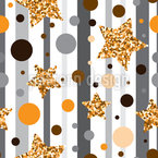 Glitter Stars And Dots Vector Pattern