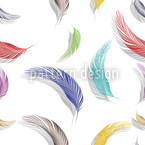 Colorful Feather Pattern Vector Design