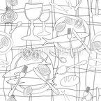 Lunch Menu Pattern Design