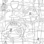 Lunch Menu Seamless Vector Pattern Design