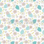イチゴの花 シームレスなベクトルパターン設計