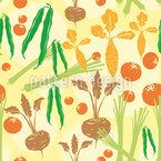 ガーデン野菜 シームレスなベクトルパターン設計