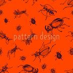 Heuschrecken Und Käfer Nahtloses Vektormuster