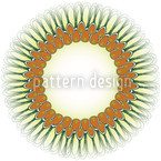 Pfauenfeder Mandala Nahtloses Vektormuster