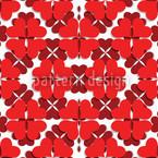 Kleeblatt In Rot Nahtloses Vektormuster