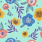 Frische Sommerblüte Nahtloses Vektormuster