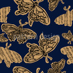 Melodic Butterfly Seamless Vector Pattern Design