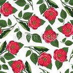 鮮やかな牡丹 シームレスなベクトルパターン設計