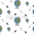 Weltreise Nahtloses Vektormuster